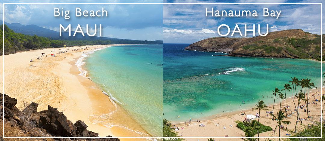Maui and Oahu beaches