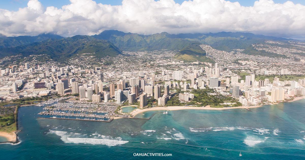 Downtown Honolulu Arial Shot